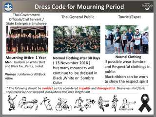 Dress code for mourning in Thailand